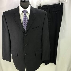 Calvin Klein men's Black Pinstripe Suit 42S